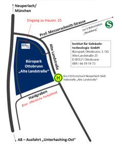 Lageplan Institut für Gebäudetechnologie